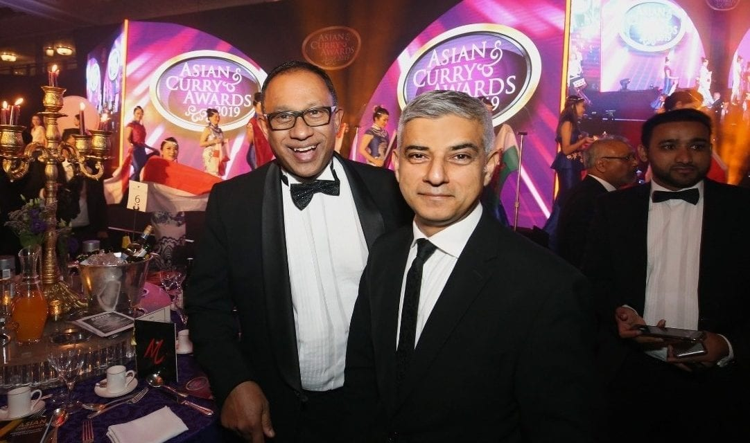 London Mayor Sadiq Khan at Asian Curry Awards