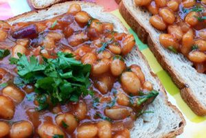 An ode to the Brits: beans on toast, Indian style!