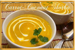 Carrot Coconut Shorba Soup