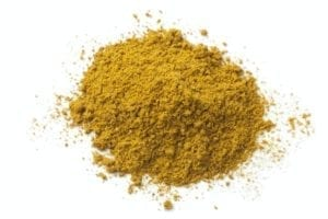 Heap of ground curry powder
